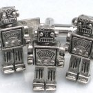 Steampunk MR ROBOT Cufflinks Tie Clip Retro Geekery