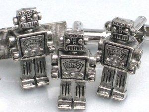 Steampunk MR ROBOT Cufflinks Tie Clip Retro Geekery