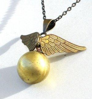 Steampunk Golden Snitch Locket Necklace Harry Potter D