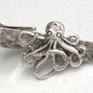 Steampunk OCTOPUS Nautical Men's Tie Bar Clip pin AS