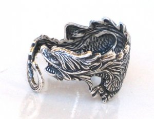Steampunk DRAGON RING Sea Serpent Gothic Goth AS