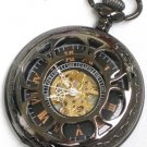 Steampunk VINTAGE FLOWER Pocket Watch Mechanical Chain