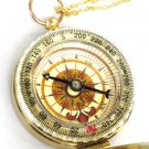 Steampunk GOLDEN COMPASS - Necklace Pendant