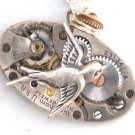 Steampunk SOARING BIRD Hunger Games Vintage Watch Movements Necklace Style 1