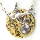Steampunk SOARING BIRD Hunger Games Vintage Watch Movements Necklace Style 6