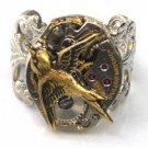 Steampunk HUNGER GAMES Bird Ring Watch Movements parts Brass