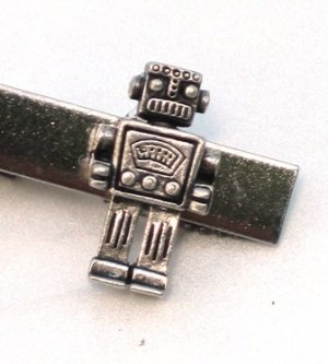 Steampunk MR ROBOT Men's Tie Bar Clip Pin Geekery AS