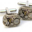 Steampunk WATCH MOVEMENTS CUFFLINKS vintage element mechanical Rectangel
