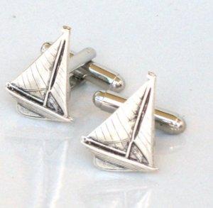 Steampunk SAIL BOAT SHIP Nautical Mens Tie Clip pin AS