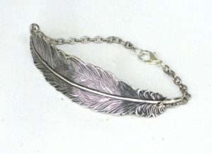 Steampunk FALLEN ANGEL FEATHER Bracelet AS