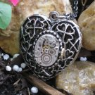 Steampunk GOTH HEART Mechanical Watch Movement Necklace