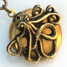 Steampunk OCTOPUS LOCKET RING Nauctical Ocean AB