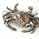 Steampunk MECHANICAL CRAB TIE CLIP Antique Silver Steam Punk Tie Clasp Bar