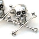 Steampunk - SKULL and CROSSBONES Cufflinks - Skeleton cuff links Steam Punk
