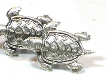 Steampunk TURTLE Cufflinks Antique Silver Nautical Steam Punk Cuff Links