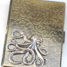Steampunk Metal OCTOPUS Cigarette Case Slim Wallet Large Card Case ASB2