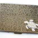 Steampunk Metal TURTLE Cigarette Case Slim Wallet Large Card Case ABS2