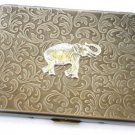 Steampunk Metal STOMPING ELEPHA Cigarette Case Slim Wallet Large Card Case ABS1
