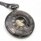 Steampunk ROMAN NUMERALS Pocket Watch Mechanical Chain Steam Punk Roman Face