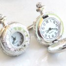 Steampunk - ROMAN TIMES POCKET WATCH CUFFLINKS - cuff links Steam Punk Silver