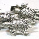 Steampunk TURTLE Cufflinks Tie Clip Bar Clasp Nautical Steam Punk Cuff Links