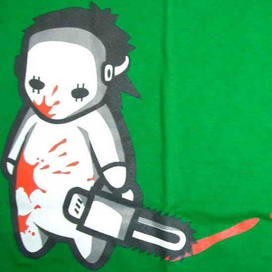 NORTH DRAGON Baby Jason Bloody Chainsaw Massacre T-Shirt M Medium Green