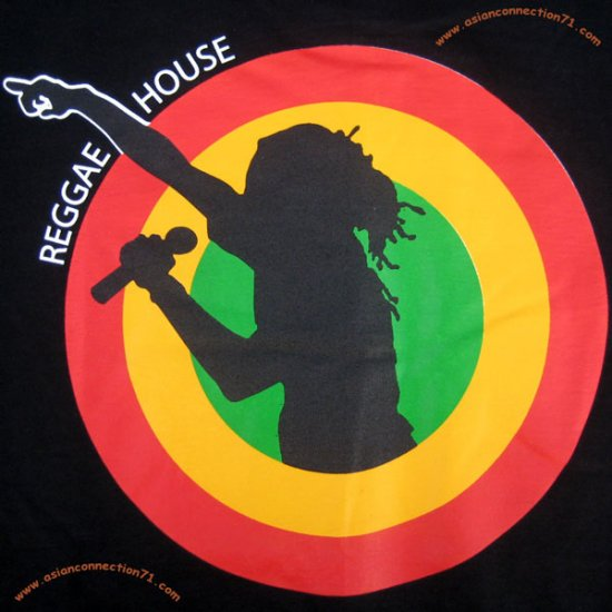 REGGAE HOUSE New Roots Rasta T-Shirt by REGGAE L Black