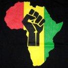 Rasta Colors AFRICA POWER New T-shirt by Reggae M Black