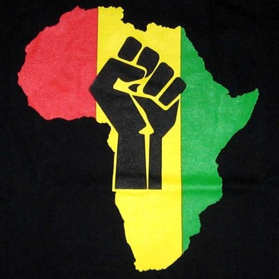 Rasta Colors AFRICA POWER New T-shirt by Reggae S Black