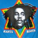 RASTA ROOTS Bob Marley New Irie REGGAE T-shirt M Blue