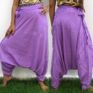 Thai Hmong Hilltribe Pants FREESIZE Rayon ROSE PINK Free Ship!