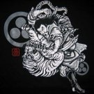 BUSHIDO BATTLE Japanese RONIN Tokyo Japan Yakuza T-Shirt XL BLACK