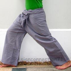 e166fd7e183 2 Pairs Thai Fisherman Pants Casual Yoga Trousers 280 gram Cotton ...