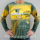 DISINTEGRATION OF MEMORY Salvador Dali Long Sleeve Art Shirt MENS Size L Large