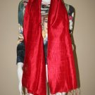 CRIMSON RED Large Thai Silk Fabric Scarf Shawl Siam Thailand Textile