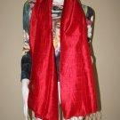 CRIMSON RED Large Thai Silk Fabric Scarf Shawl Siam Thailand Textile
