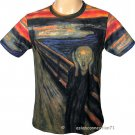 THE SCREAM Edvard Munch Fine Art Print Short Sleeve T-Shirt Men's XL