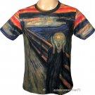THE SCREAM Edvard Munch Fine Art Print Short Sleeve T-Shirt Men's XL