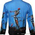 Dali BURNING GIRAFFE Long Sleeve Art Print T Shirt Men's Size XL