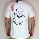 ZEN DARUMA Japanese RONIN Tokyo Japan T-Shirt L Large Cream