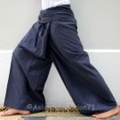 Thai XXXL Plus Size Cotton Fisherman Pants Yoga Trousers SOLID GRAY