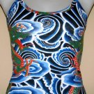 DRAGON TATTOO Japan IREZUMI Art Print TANK TOP Misses Size S Small