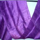 Thai ROYAL PURPLE New Hand Crafted Silk Fabric Scarf