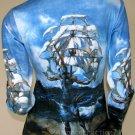 Salvador Dali THE SHIP LONG SLEEVE Fine Art Print Shirt Misses S Small