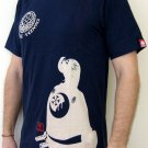 SAMURAI Profile RONIN Japan T-Shirt M Medium Dark BLUE Tokyo Yakuza Street Wear