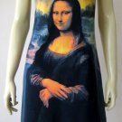 MONA LISA Leonardo Da Vinci Hand Print Fine Art Tank Top Dress Misses Size M 8-10