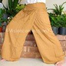 Thai PLUS SIZE XXL Rayon Fisherman Yoga Pants Light Brown