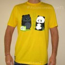 BEACH PANDA Fun New CISSE T-shirt Asian XL Yellow BNWT!