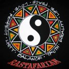 RASTAFARIAN Ying Yang Rasta T-shirt by Reggae M Black