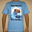 SURF HEAVEN Woody Wave Rider PRIERE T-shirt L Large Blue